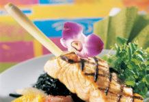 Brochettes de saumon aux agrumes