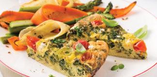 Omelette au chou kale et feta