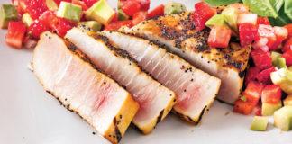 Tataki de marlin en croûte d'épices